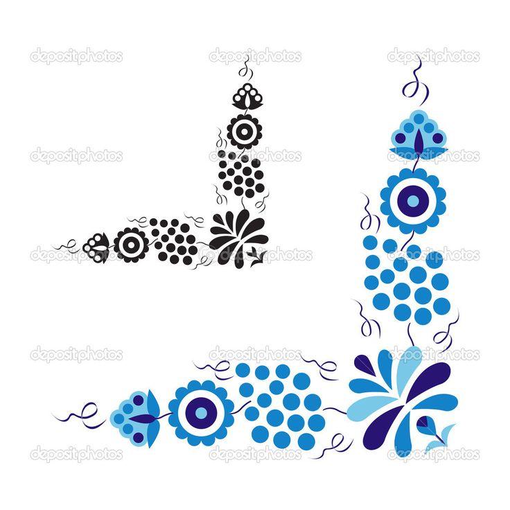 традиционный народный орнамент и узор — Стоковая иллюстрация #35837425