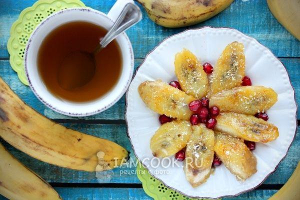 Фото жареных бананов в карамели