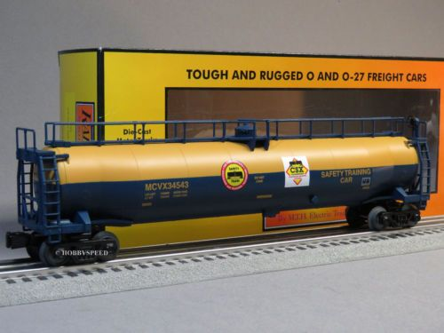 MTH-RAIL-KING-CSX-33K-GALLON-TANKER-CAR-o-gauge-train-safety-tank-30-73451-NEW