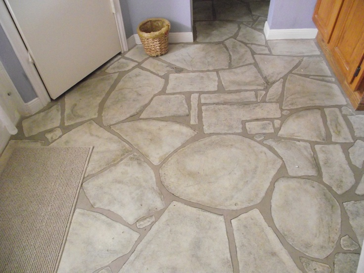 Faux stone floor mixed stuff would love to have pinterest for Fake tile floor