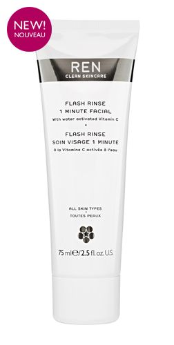 REN flash rinse 1 minute facial - for instant healthy looking radiant skin.