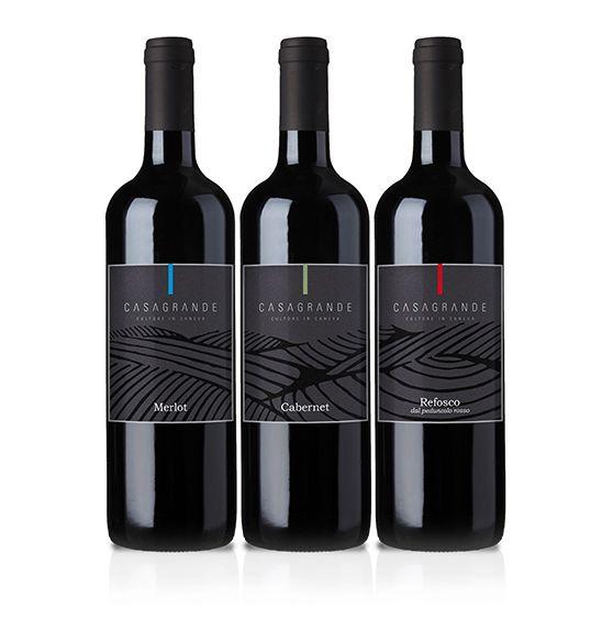 Wine Label. Casagrande. Design: Massimiliano Marras - limestudio.it