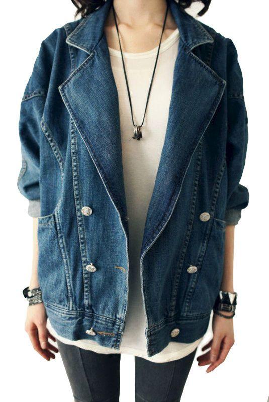 17 Best Ideas About Oversized Denim Jacket On Pinterest