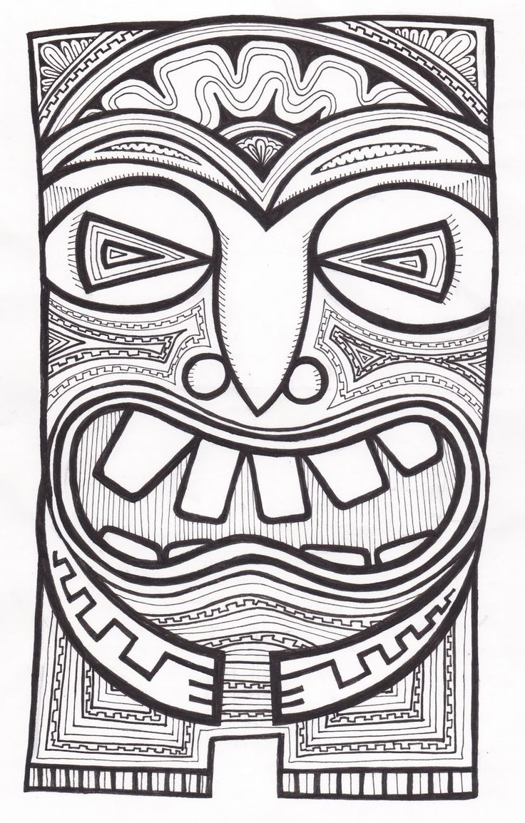 Stitchlily: Cómo dibujar una cabeza de Tiki!