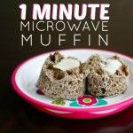 1 Minute Microwave Muffin.  Sub peanut butter for flax and it is amazing.  Texture seems weird at first, but it was so yummy and moist!