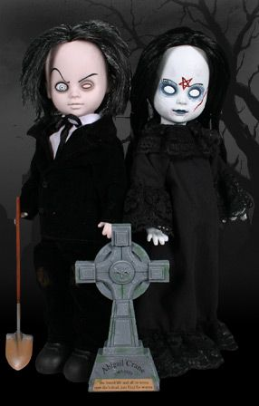 Abigail Crane and Mr. Graves. Especially cool about Living Dead Dolls are the Exclusives. We just can't decide which are the coolest, we love them all!