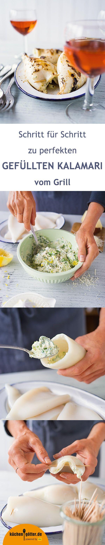 Warum ihr Kalamari unbedingt mal vom Grill ausprobieren solltet? Weil sie ihr Aroma durch die Röstaromen erst richtig entfalten. Fehlt nur noch unsere feine Ricotta-Füllung mit Zitrone und Basilikum für den perfekten Grillgenuss. Himmlisch gut!