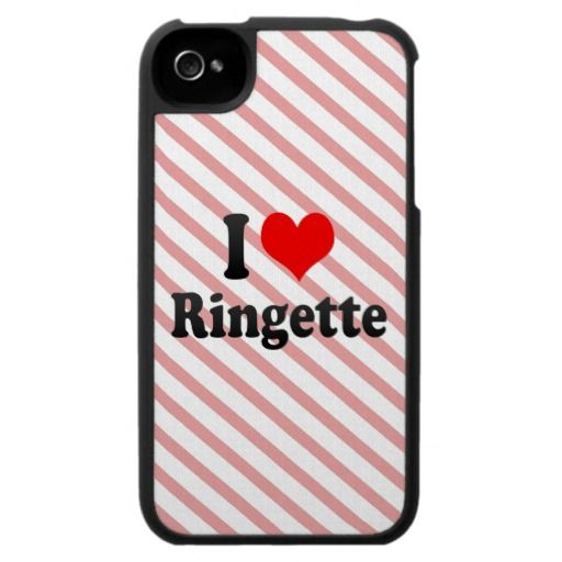 I love Ringette iPhone 4 Case