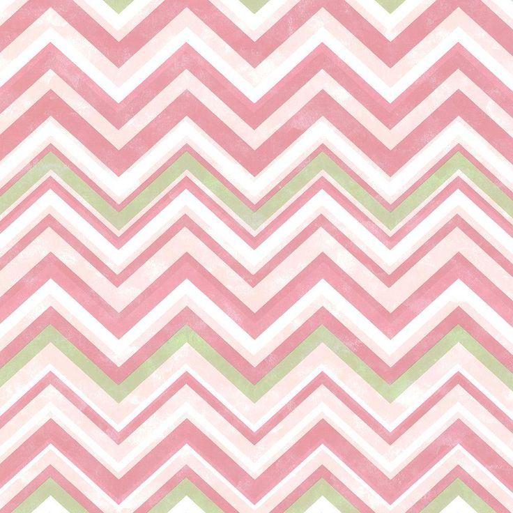 8 in. x 10 in. Susie Pink Chevron Wallpaper Sample