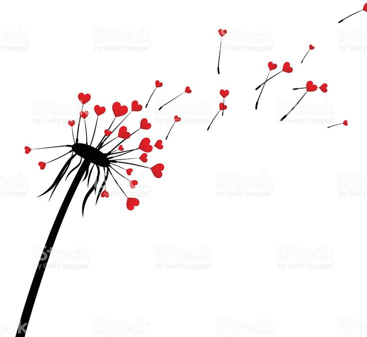 Valentine's background with love dandelion. royalty-free stock vector art
