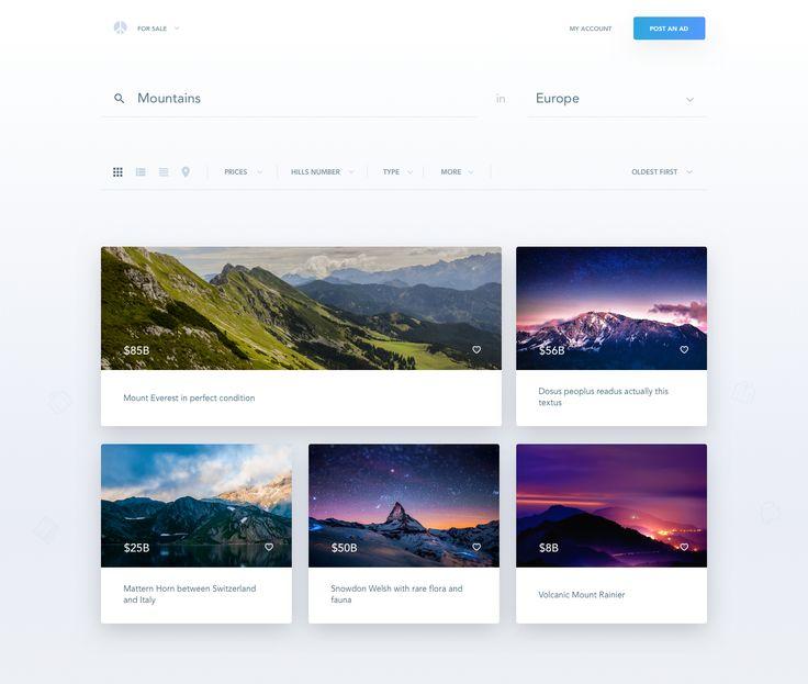 dashboard design / top filter