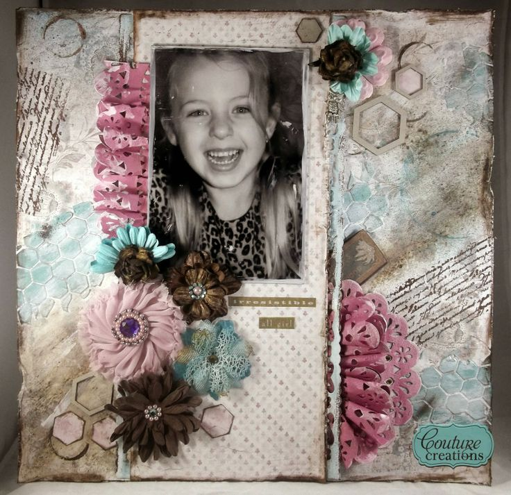 Couture Creations: Irresistible by Tracey Cooley   #couturecreationaus #scrapbooking #mixedmedia #decorativedies #ornamentallacedies #doilydies #