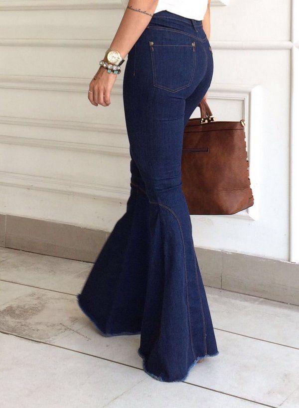 0a7b08841 Calça Maxi Flare Jeans #Flares #Maxi #Jeans | womens bell bottom ...