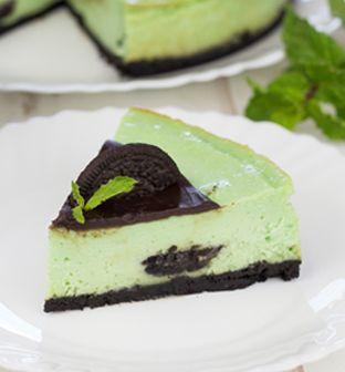 Cheesecake de Menta com Oreo