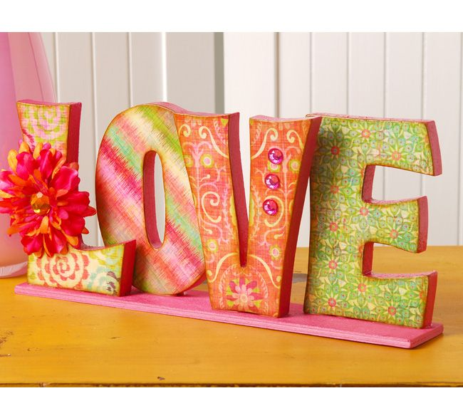 Show some LOVE with colorful love letters! (via plaidonline.com)