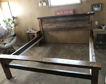 Reclaimed Wood Bed Frame w/ Head/Foot board