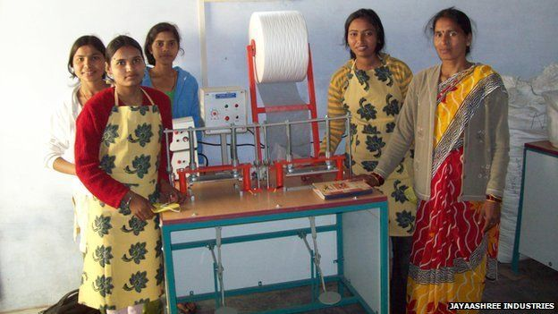 Sanitary pad machine developed by high school drop-out changes the lives of poor women in India