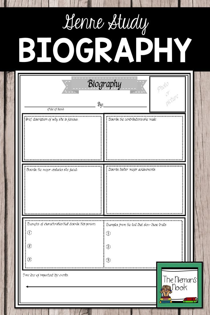 Biography Report Invite Students To Explore The Genre Of Biography With This Student Poster Tem Genre Posters Student Posters Reading Comprehension Activities