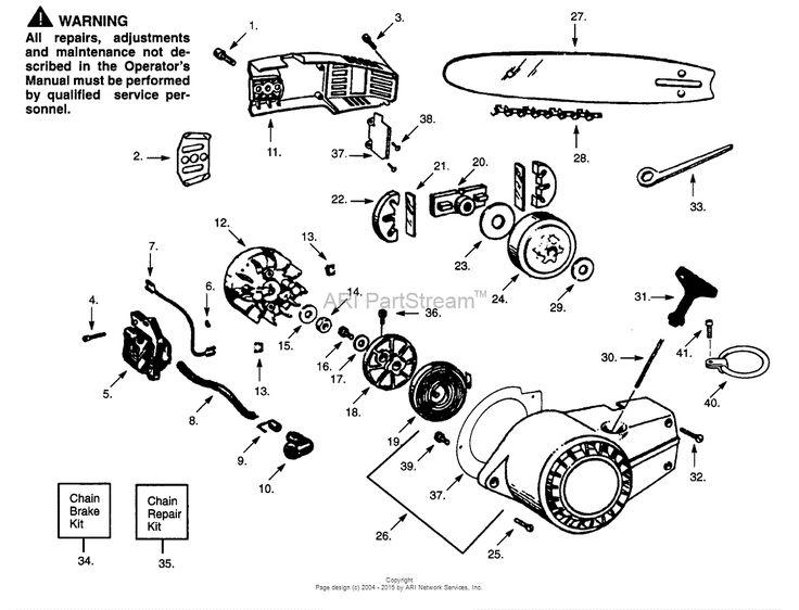 Poulan S25DA Gas Saw Parts Diagram for CHAIN & BAR, SHROUD