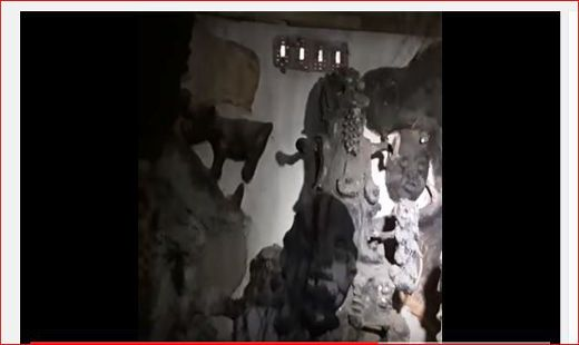 Police Uncovers Badoo Shrine In Ikorodu (Video) ------------ The Lagos state police command, in its efforts to get rid of the Badoo gang, a notorious ritual sect, terrorising the   #Badoogang #BadooShrine  #deities #graves #Ikorodu #Police