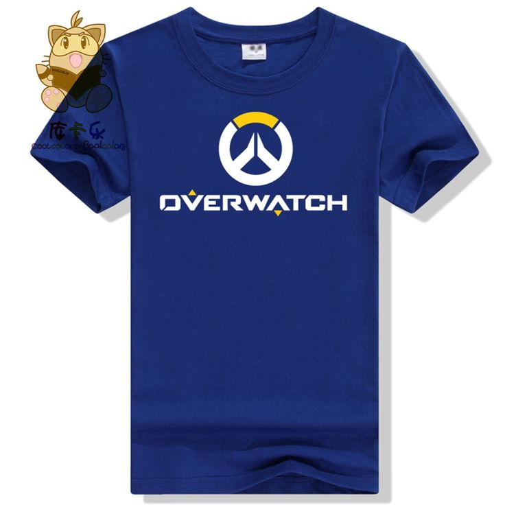 Hot gamer tee shirt gift for boyfriend OW LOGO t shirt watch over men's tee shirt ac258 //Price: $17.36 & FREE Shipping //  #device #gadget #gadgets #…