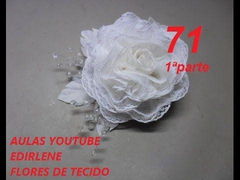 AULA 71 - ROSA ROCOCÓ DE RENDA (1ªparte)