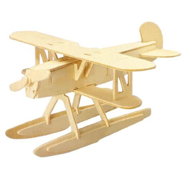 3d Woodcraft Diy Heinkel He51 Plane Model Wooden