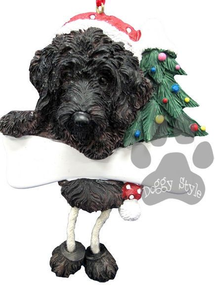 Dangling Leg Black Labradoodle Christmas Ornament http://doggystylegifts.com/products/dangling-leg-black-labradoodle-christmas-ornament