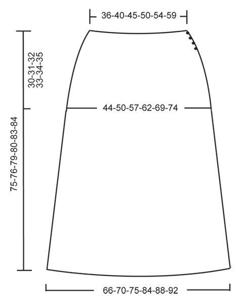 Virka DROPS kjol i Merino Extra Fine med stolpar och hålmönster, virkad uppifrån och ned. Stl S-XXXL Gratis mönster från DROPS Design.