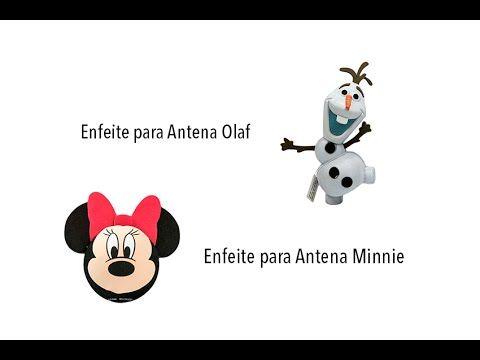 Enfeite para Antena Minnie e Olaf - Original Disney