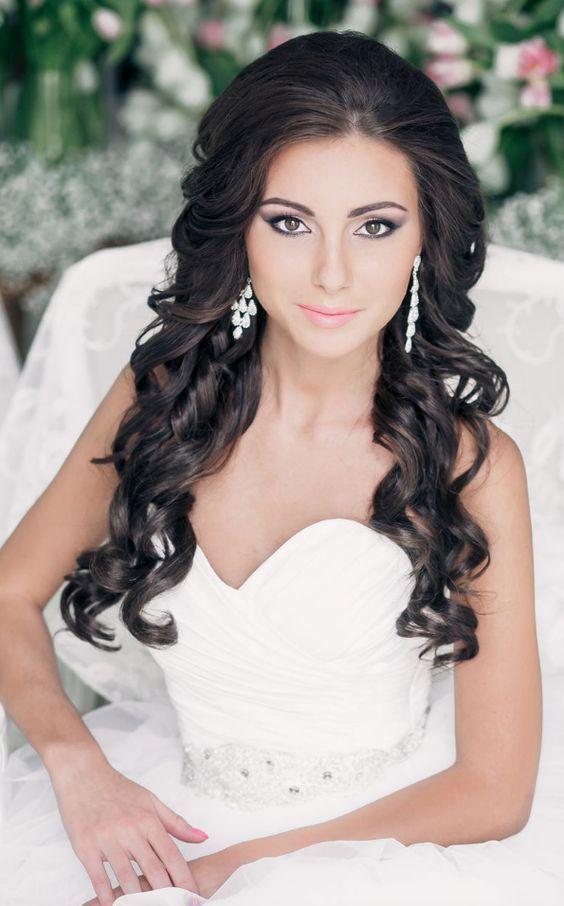 6 Best Hairstyles Wear with Strapless Wedding Dress - WeddCeremony.Com | Curly wedding hair ...