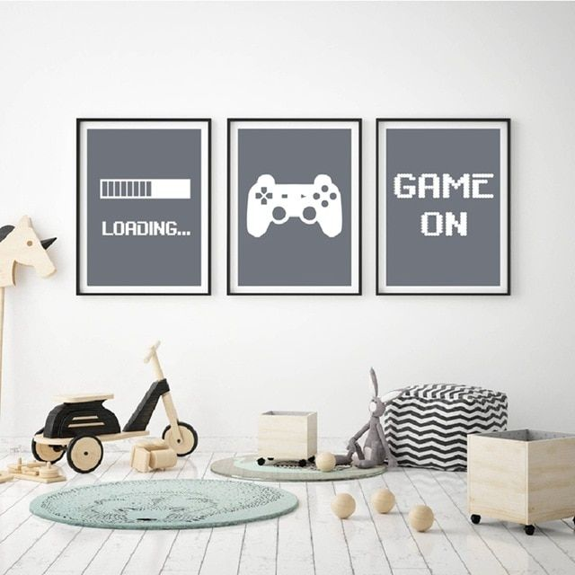 Gaming Minimalist Art Canvas Poster Painting Boys Room Decorative , Video Game Wall Pictures Print For Gamer Room Decoration Review