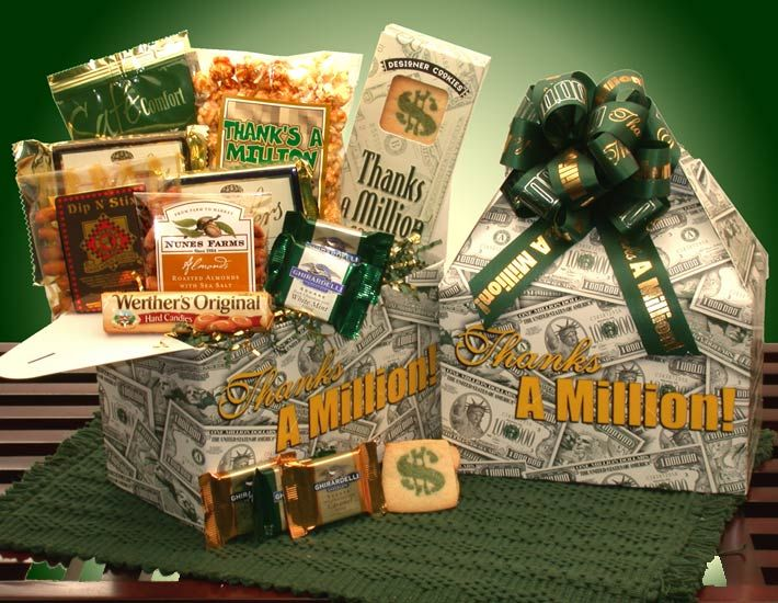 Best 25 thanks a million ideas on pinterest appreciation gifts this gift says it all thanks a million from the decorative gift box to the imprinted ribbon to even the caramel corn this gift is sure to send your negle Images