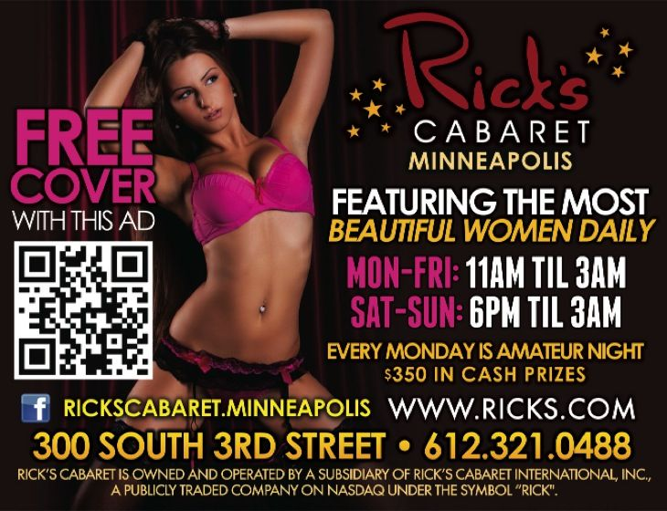 Minneapolis AdIndex - Online Advertising Directory - Bars and Clubs - Bars, Clubs & Liquor - Rick's Cabaret (RCI Entertainment) ***NO