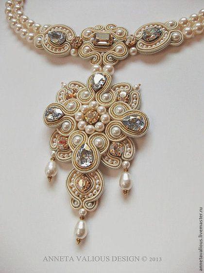 Necklaces, handmade beads.  Fair Masters - handmade.  Buy Dedication Petersburg.  Ball in the Winter Palace.  Handmade.  gold