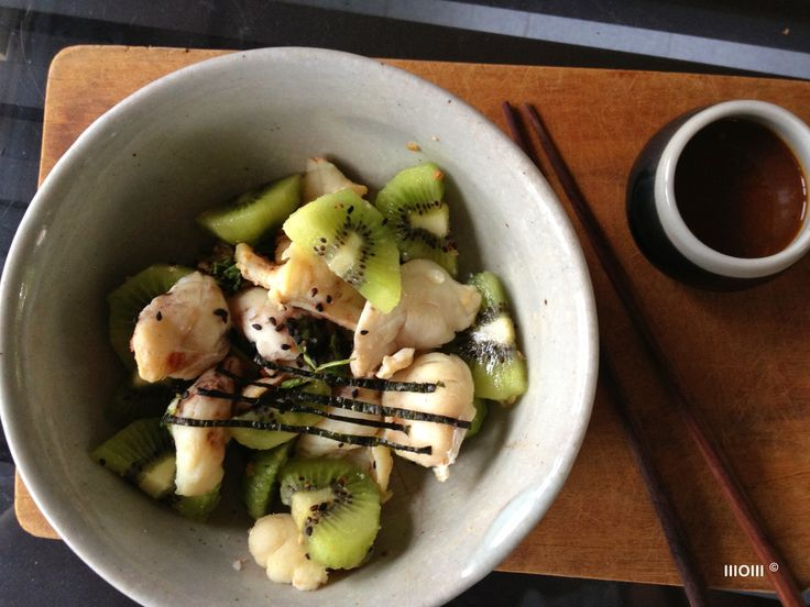 Steamed Fish with Kiwi. ©WOW #eatclean #healthy