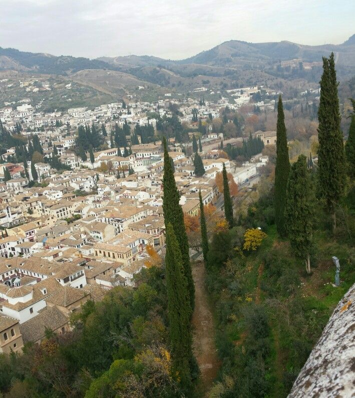 View from the palace. Alhambra,  Granada #spain #views of spain #wendybennettartist
