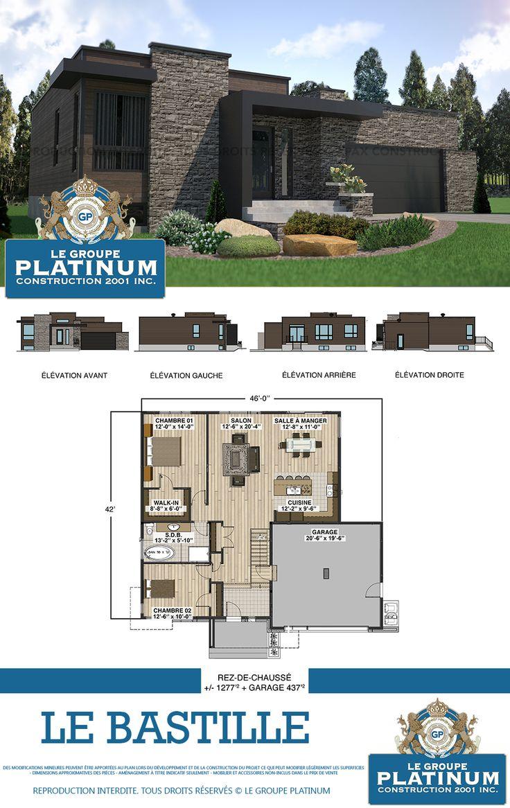 Modèle de maison neuve le bastille le groupe platinum construction de maisons et