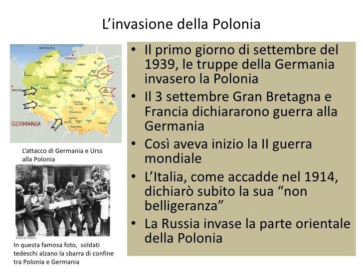 L'invasione della Polonia                                       • Il primo giorno di settembre del                        ...