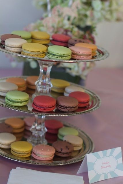 French Macarons from Lette, Avery's Carousel party