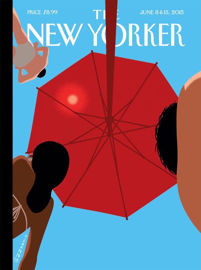 "The cover of our annual Fiction issue, ""Summer Sky,"" by Christoph Niemann: http://nyr.kr/1Fp3u1k"