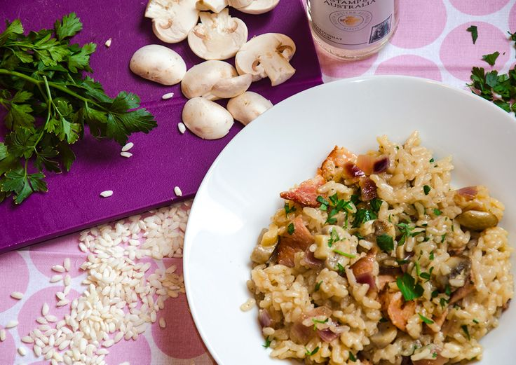 5:2 recipe - Baked Bacon and Mushroom Risotto. Only 388 calories per serving!