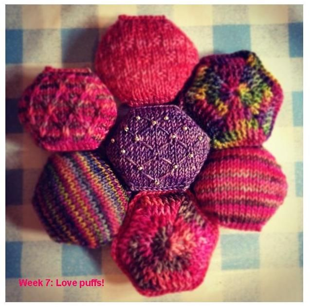 hexipuffs   Knit three together