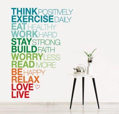 Textos que decoran los espacios! Think positively!!!