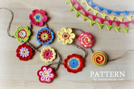 New Pattern – Big Crochet Flower Party - 10 flowers and a mini crochet bunting!
