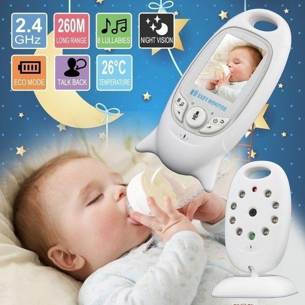 Wireless 2.4GHz Digital Video Baby Monitor Camera Night Vision 2-Way Talk LCD