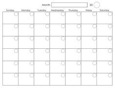 25 unique blank monthly calendar template ideas on pinterest printable blank monthly calendar activity shelter pronofoot35fo Image collections