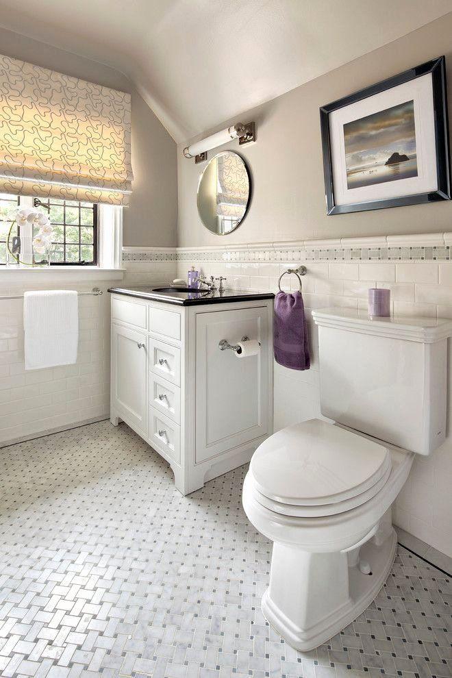 Bathroom Tile Chair Rail Height Beautiful Marble Basketweave Tile Lowes