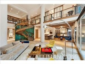 Another open-plan eye-opener.: Spaces, Dreams Houses, Spirals Stairca, Stairs, New York Cities, Open Floors Plans, Interiors Design, Modern Loft, Interiordesign