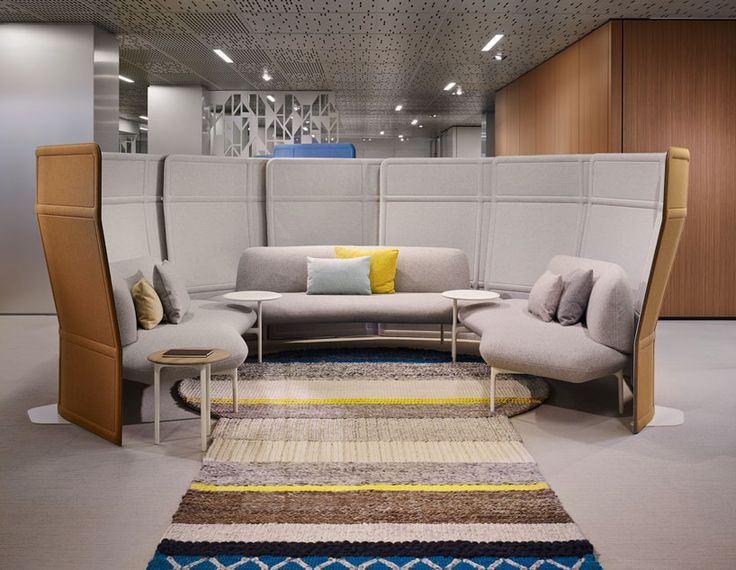 haworth   patricia urquiola collaborate on office furniture - designboom a high-back sofa offers privacy as well as a comfortable meeting place for employees